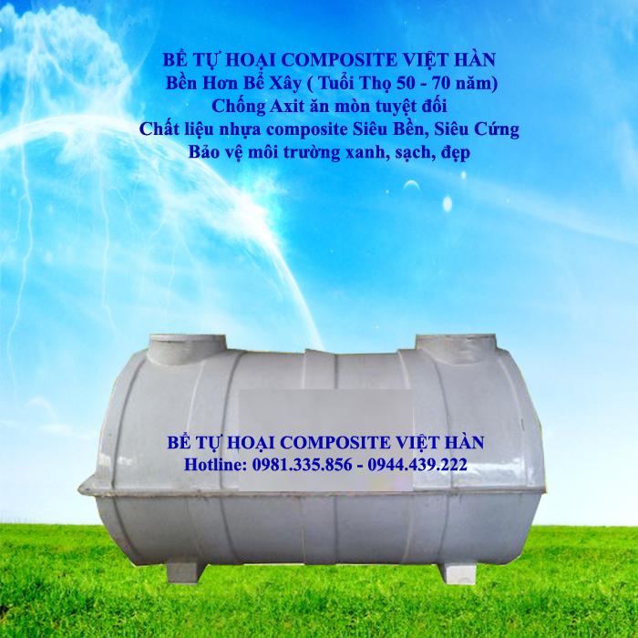 bể tự hoại composite Việt Hàn - Bể phốt composite
