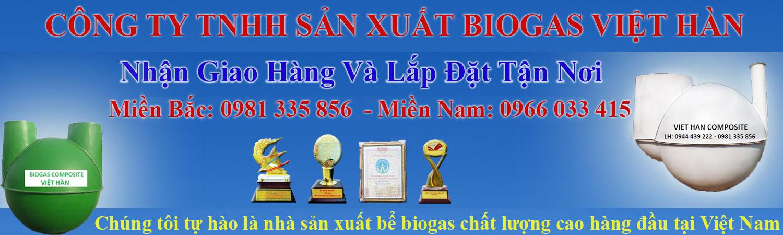 Hầm biogas Việt Hàn, hầm biogas chất lượng cao uy tín