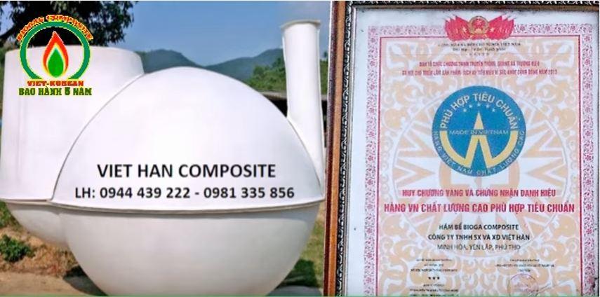 hầm biogas composite tiện lợi Việt Hàn