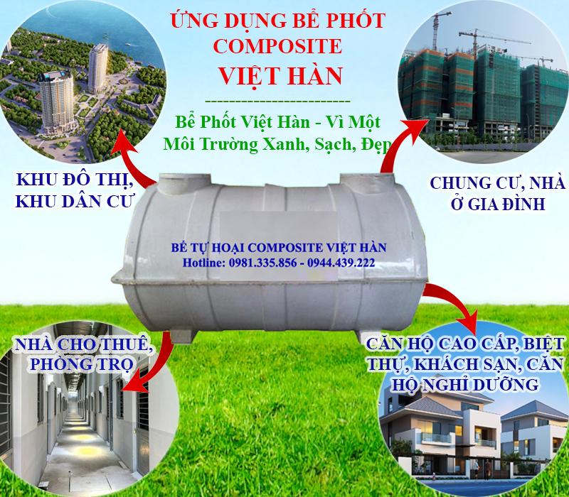 Bể phốt nhựa composite Việt Hàn