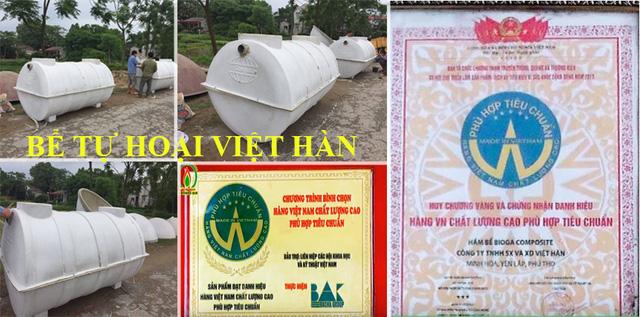 Bể Tự Hoại Composite Việt Hàn ISO - Bể Phốt Composite Chất Lượng Cao
