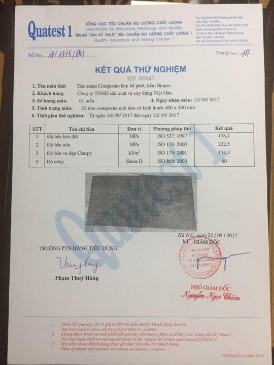 kết quả ISO tại Cục Đo Lường Chất Lượng Việt Nam