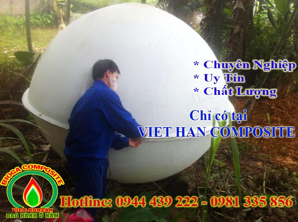 Quy trình lắp đặt hầm bể Biogas Composite