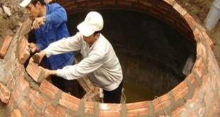 Xây hầm biogas bằng gạch