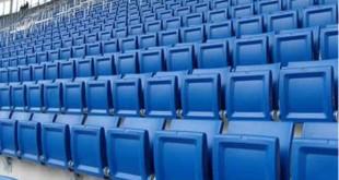 Ghế bằng composite ở sân vận động