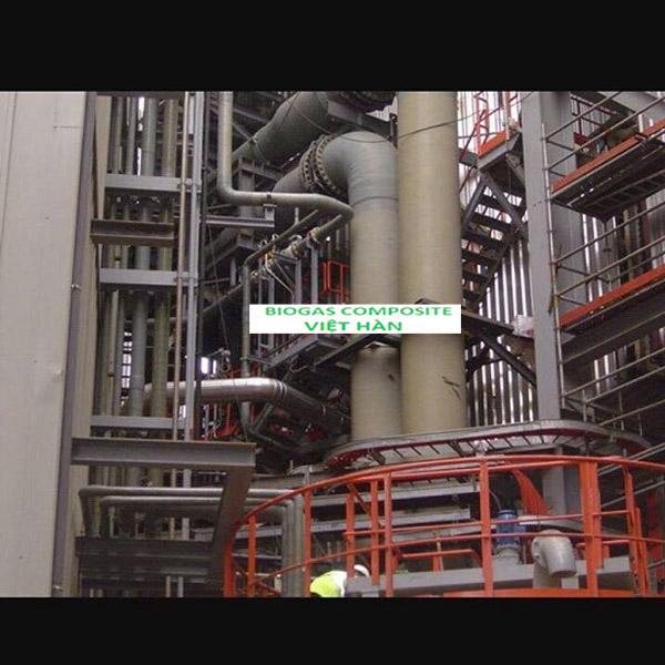 Sản xuất bồn xử lý chất thải Composite