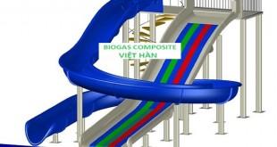 Mô hình máng trượt composite