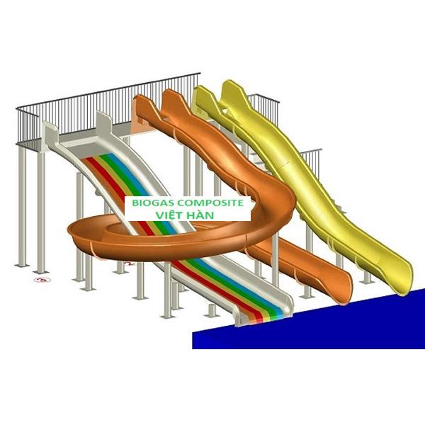 Mô hình máng trượt nước composite