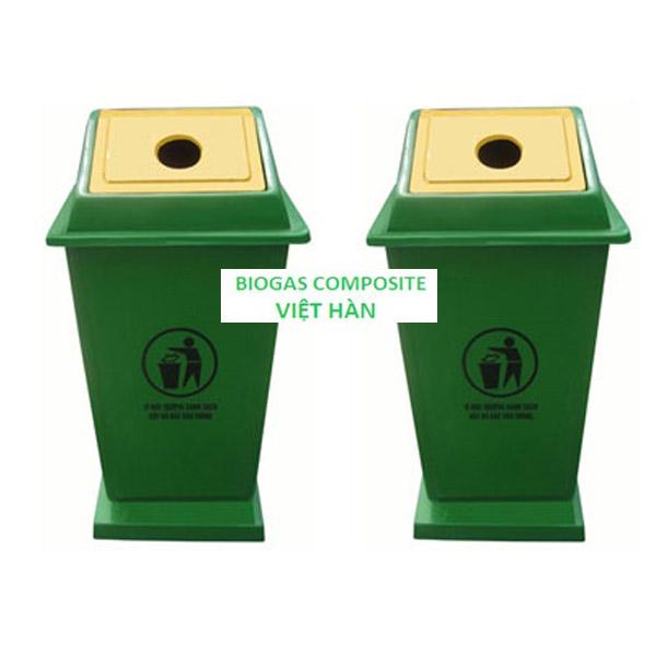 Thùng rác có nắp lật