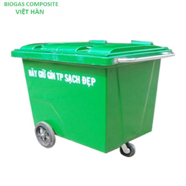 Xe đẩy rác 3 bánh